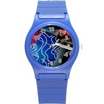 Panic! At The Disco Released Death Of A Bachelor Round Plastic Sport Watch (S) Front