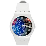 Panic! At The Disco Released Death Of A Bachelor Round Plastic Sport Watch (M) Front