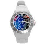 Panic! At The Disco Released Death Of A Bachelor Round Plastic Sport Watch (L) Front