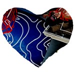 Panic! At The Disco Released Death Of A Bachelor Large 19  Premium Heart Shape Cushions Front