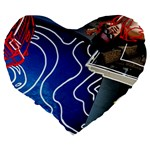 Panic! At The Disco Released Death Of A Bachelor Large 19  Premium Heart Shape Cushions Back
