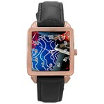 Panic! At The Disco Released Death Of A Bachelor Rose Gold Leather Watch  Front