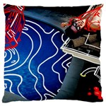 Panic! At The Disco Released Death Of A Bachelor Large Flano Cushion Case (Two Sides) Back