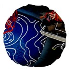 Panic! At The Disco Released Death Of A Bachelor Large 18  Premium Flano Round Cushions Back