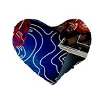 Panic! At The Disco Released Death Of A Bachelor Standard 16  Premium Flano Heart Shape Cushions Front
