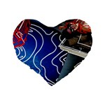 Panic! At The Disco Released Death Of A Bachelor Standard 16  Premium Flano Heart Shape Cushions Back