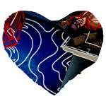 Panic! At The Disco Released Death Of A Bachelor Large 19  Premium Flano Heart Shape Cushions Front