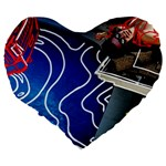 Panic! At The Disco Released Death Of A Bachelor Large 19  Premium Flano Heart Shape Cushions Back