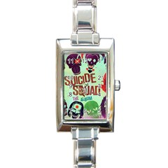 Panic! At The Disco Suicide Squad The Album Rectangle Italian Charm Watch