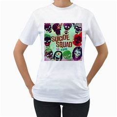 Panic! At The Disco Suicide Squad The Album Women s T-Shirt (White) (Two Sided)