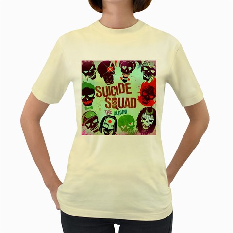 Panic! At The Disco Suicide Squad The Album Women s Yellow T-Shirt
