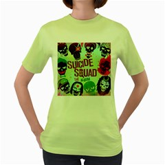 Panic! At The Disco Suicide Squad The Album Women s Green T Shirt