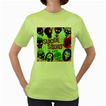 Panic! At The Disco Suicide Squad The Album Women s Green T-Shirt Front