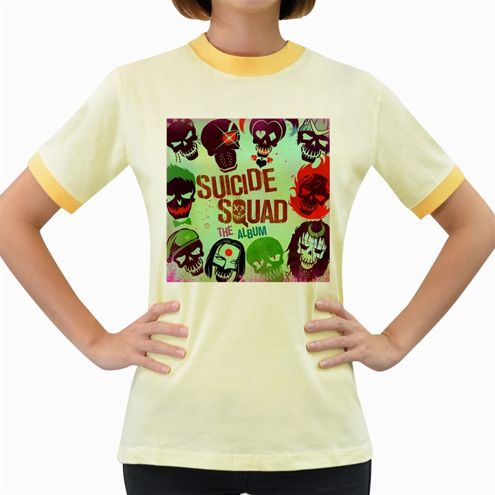 Panic! At The Disco Suicide Squad The Album Women s Fitted Ringer T-Shirts