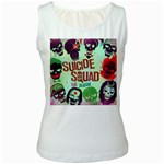 Panic! At The Disco Suicide Squad The Album Women s White Tank Top Front