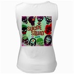 Panic! At The Disco Suicide Squad The Album Women s White Tank Top Back