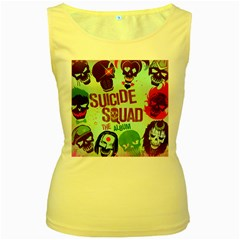 Panic! At The Disco Suicide Squad The Album Women s Yellow Tank Top
