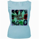 Panic! At The Disco Suicide Squad The Album Women s Baby Blue Tank Top Front