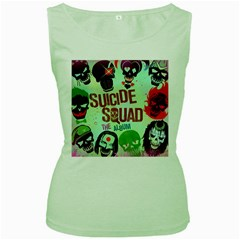 Panic! At The Disco Suicide Squad The Album Women s Green Tank Top