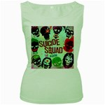 Panic! At The Disco Suicide Squad The Album Women s Green Tank Top Front