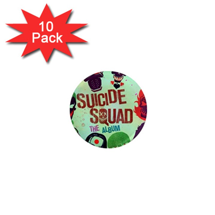 Panic! At The Disco Suicide Squad The Album 1  Mini Magnet (10 pack)