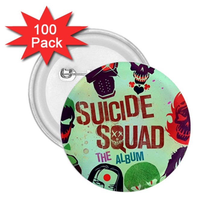 Panic! At The Disco Suicide Squad The Album 2.25  Buttons (100 pack)