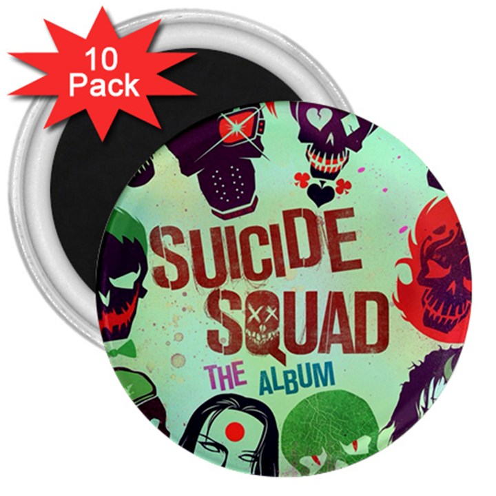 Panic! At The Disco Suicide Squad The Album 3  Magnets (10 pack)