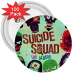 Panic! At The Disco Suicide Squad The Album 3  Buttons (100 pack)  Front
