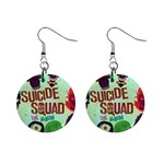 Panic! At The Disco Suicide Squad The Album Mini Button Earrings Front