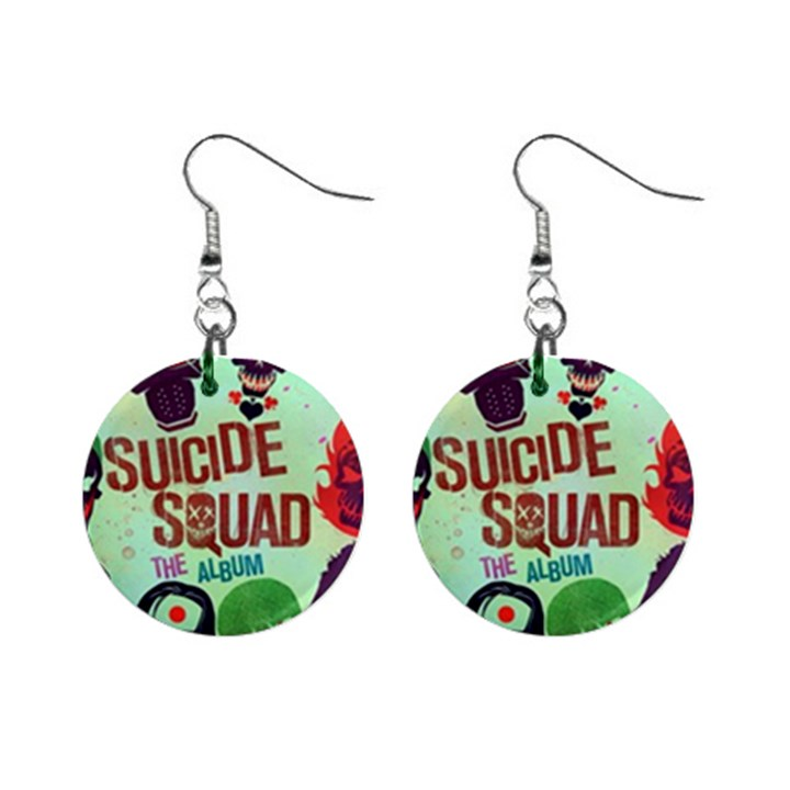 Panic! At The Disco Suicide Squad The Album Mini Button Earrings