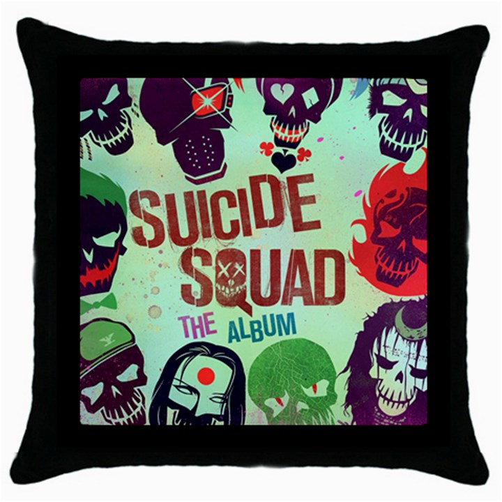 Panic! At The Disco Suicide Squad The Album Throw Pillow Case (Black)