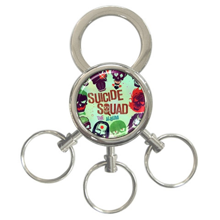 Panic! At The Disco Suicide Squad The Album 3-Ring Key Chains