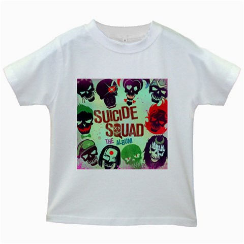 Panic! At The Disco Suicide Squad The Album Kids White T-Shirts