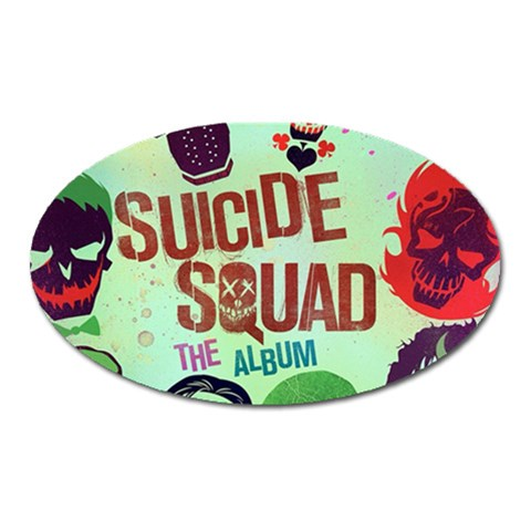 Panic! At The Disco Suicide Squad The Album Oval Magnet