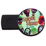 Panic! At The Disco Suicide Squad The Album USB Flash Drive Round (2 GB)  Front