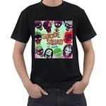 Panic! At The Disco Suicide Squad The Album Men s T-Shirt (Black) (Two Sided) Front