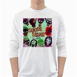Panic! At The Disco Suicide Squad The Album White Long Sleeve T-Shirts Front