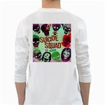 Panic! At The Disco Suicide Squad The Album White Long Sleeve T-Shirts Back