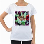 Panic! At The Disco Suicide Squad The Album Women s Loose-Fit T-Shirt (White) Front