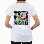 Panic! At The Disco Suicide Squad The Album Women s Loose-Fit T-Shirt (White) Back