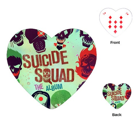 Panic! At The Disco Suicide Squad The Album Playing Cards (Heart)