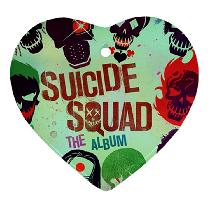 Panic! At The Disco Suicide Squad The Album Heart Ornament (2 Sides)