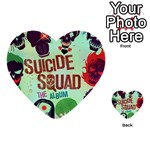 Panic! At The Disco Suicide Squad The Album Multi-purpose Cards (Heart)  Back 12