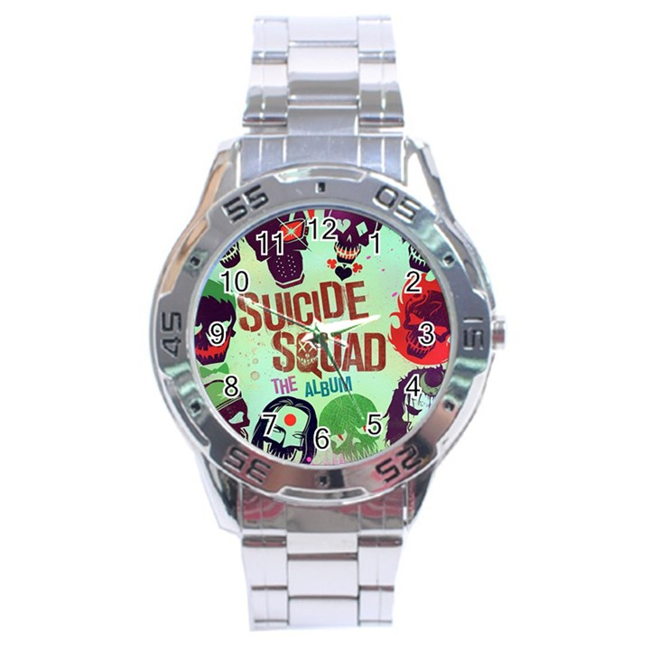 Panic! At The Disco Suicide Squad The Album Stainless Steel Analogue Watch