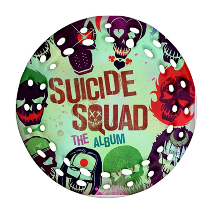 Panic! At The Disco Suicide Squad The Album Round Filigree Ornament (2Side)