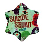 Panic! At The Disco Suicide Squad The Album Snowflake Ornament (2-Side) Front