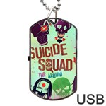 Panic! At The Disco Suicide Squad The Album Dog Tag USB Flash (One Side) Front