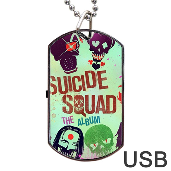 Panic! At The Disco Suicide Squad The Album Dog Tag USB Flash (Two Sides)