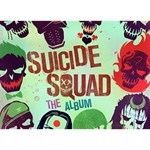 Panic! At The Disco Suicide Squad The Album WORK HARD 3D Greeting Card (7x5) Back