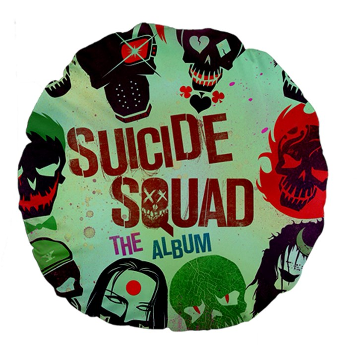 Panic! At The Disco Suicide Squad The Album Large 18  Premium Round Cushions